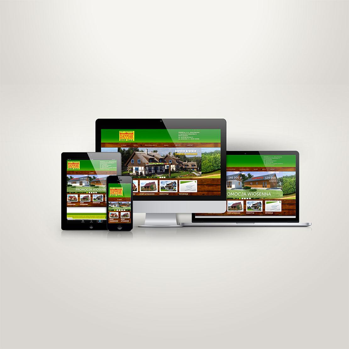 Strona internetowa Danmar Domy