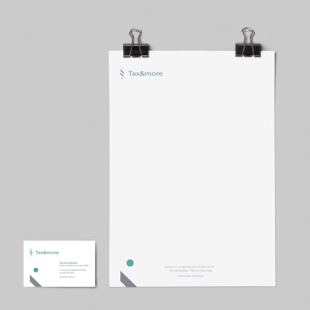 Wizytówka i papier firmowy Tax&More