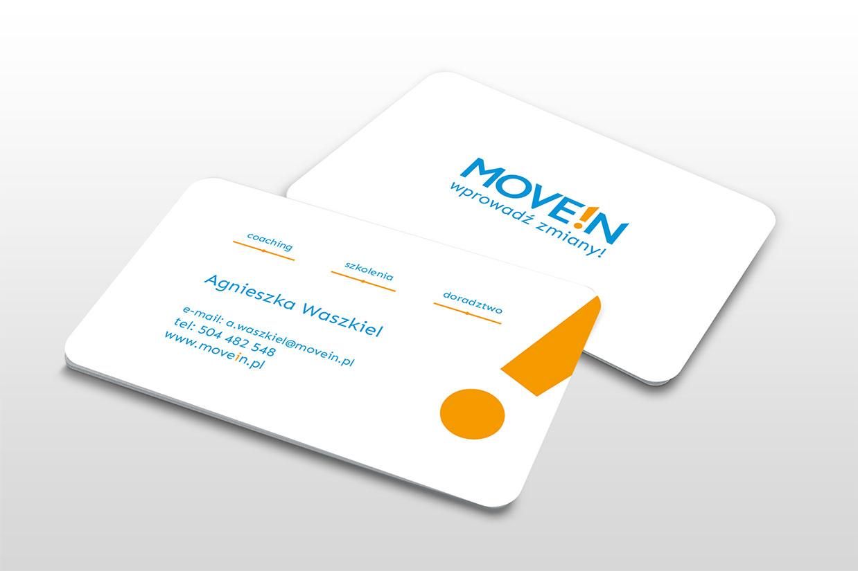 projekt logo na wizytówce
