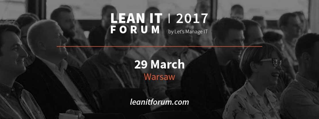 Baner na wydarzenie na FB Lean IT Forum 2017