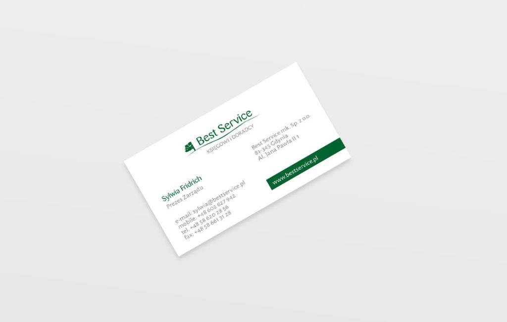 Wizytówka dla Biura Rachunkowego Best Service