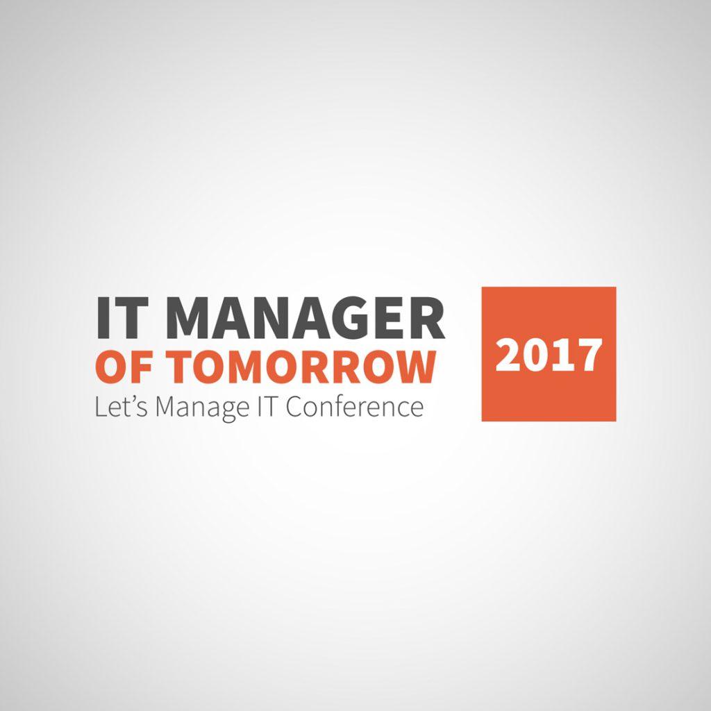 Oprawa graficzna konferencji - projekt logo na It Manager of Tomorrow 2017