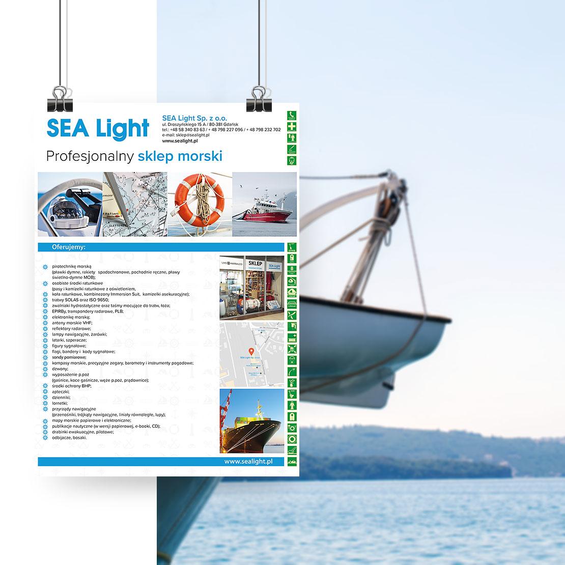Projekt plakatu dla Sealight