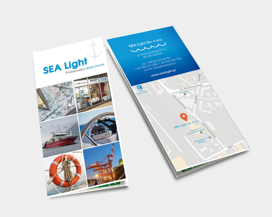 Projekt ulotki dla Sealight