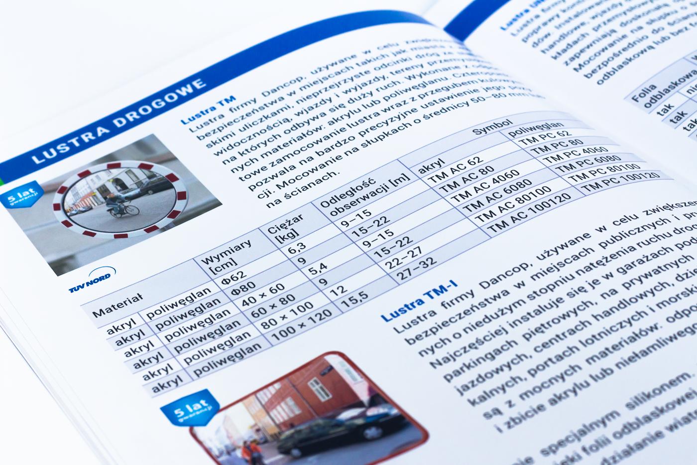 katalog produktowy tabelki