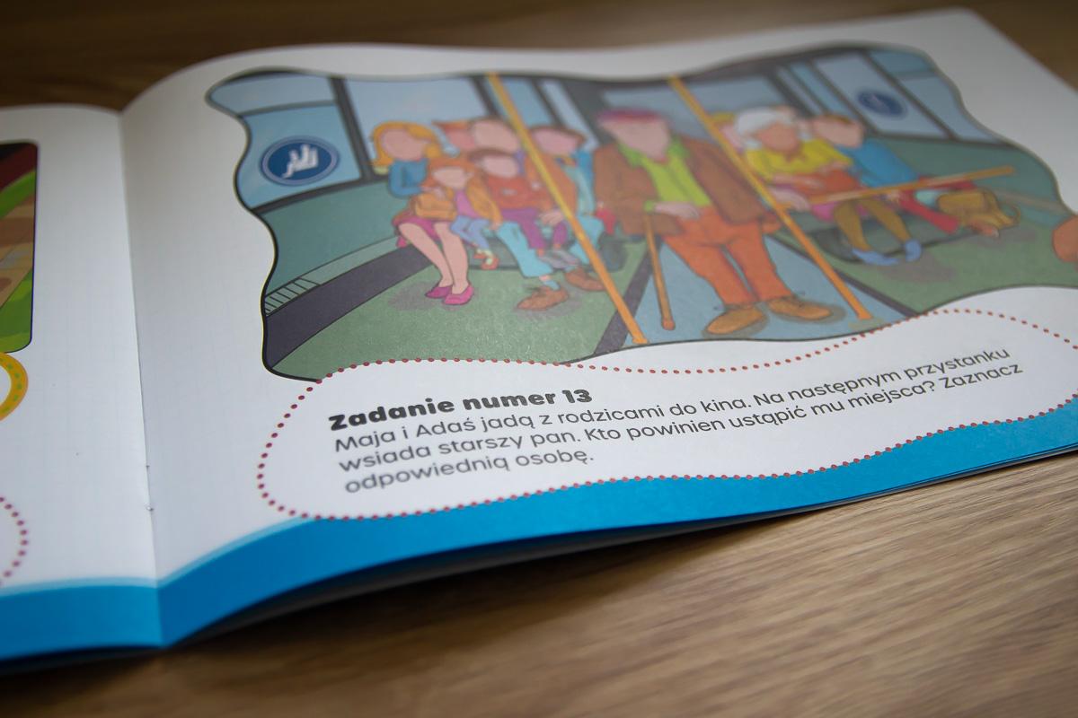 strona książeczki dla dzieci Odprowadzam Sam